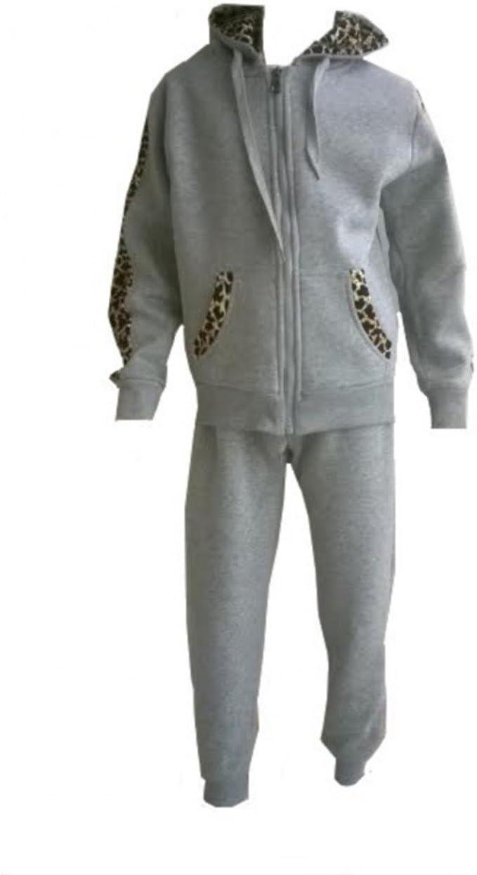 Fashion-Chándal para niño, diseño de piel de leopardo, color gris ...