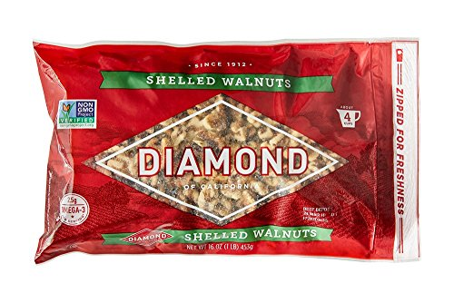 Nuts Chopped (Diamond of California, Shelled Walnuts, 16 oz.)