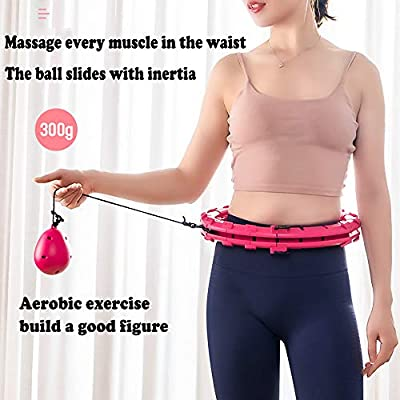 Adlme Hula Hoops Detachable Hula Hoops,Adjustable Beginners Thin Waist Weight Loss Fitness Training Sport Massage Equipment: Sports & Outdoors