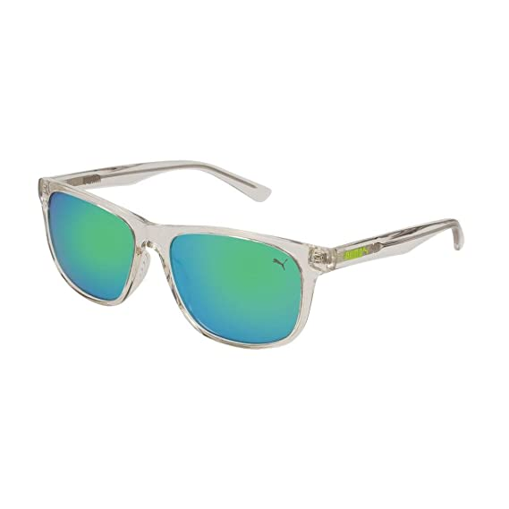 Puma Junior Gafas de sol, Transparente (Crystal/Green), 52.0 ...