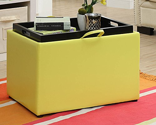 Yellow Storage Ottoman - Convenience Concepts 143523Y Accent Storage, Yellow