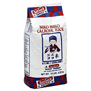 Amazon.com : Niko Niko Calrose Rice#44; 10 lb#44; - Pack