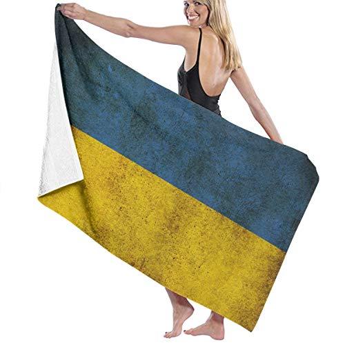 ダンス叱る日記ビーチバスタオル バスタオル ウクライナ国旗 タオル 海水浴 旅行用タオル 多用途 おしゃれ White