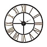 Hamptons Collection Metal Framed Roman Numeral Open Back Wall Clock