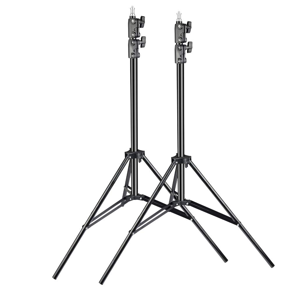 UTEBIT Light Stands Heavy Duty 7 Feet Set of 2 Aluminum 80cm-200cm Adjustable 1/4 Photo Stage Video Lighting Stand for Softbox Strobe Flash Studio Photography with 17.5 Lbs Load Capacity Sturdy Tripod