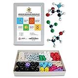 Molecular Model Kit with Molecule Structure Building Software - Dalton Labs Organic Chemistry Set - 123pcs Teacher Edition - Atoms, Bonds, Orbitals, Links - Advanced Learning Science Educational Toys