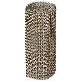 Abbott Collection Home 27-DIAMANTE/LG COP Wide Diamond Ribbon, Copper, 5x72-Inch Length