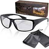 """Passive 3D Movie & TV Glasses - Black - For RealD Cinema use and passive 3D TVs such as LG """"Cinema 3D"""" and Philips """"Easy 3D"""" and passive 3DTV from Panasonic, Grundig, Sony, Toshiba, CMX, Hisense, Finlux and more - Circularly Polarized - With Microfiber Pouch and Cleaning Cloth"""