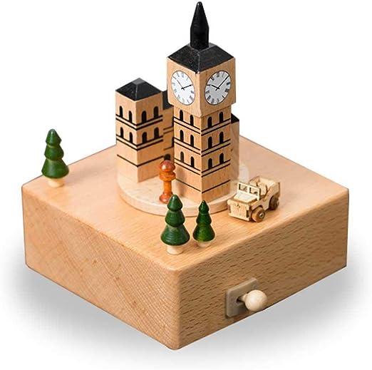 Caja musical de madera de MOGOI, tren de Navidad con movimiento ...