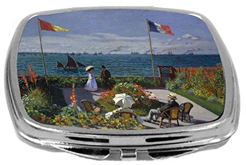 (Rikki Knight Compact Mirror, Claude Monet Jardin a Sainte-Addressee )