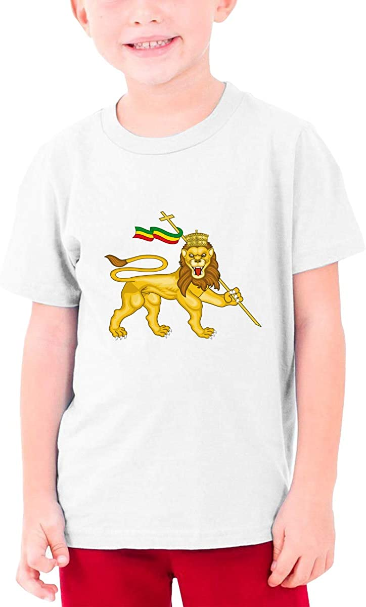 Rasta Lion Judah Youth Boys and Girls Fashion Short Sleeve Shirt