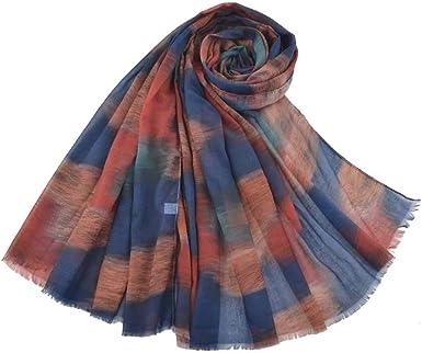 Raylans - Bufanda de algodón para mujer, suave, chal, larga ...