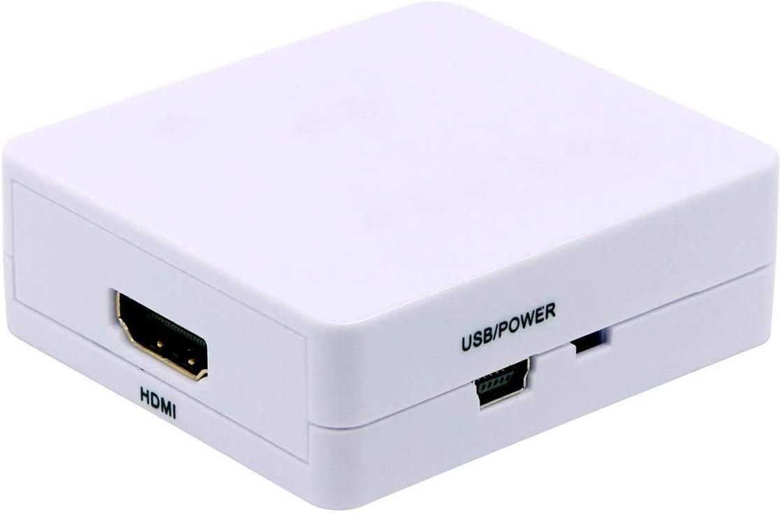 BigBig Style VGA a HDMI 1080P HD HDTV Adaptador de Caja convertidora de Video y Audio con Puerto de Audio para DVD/PC/portátil: Amazon.es: Electrónica