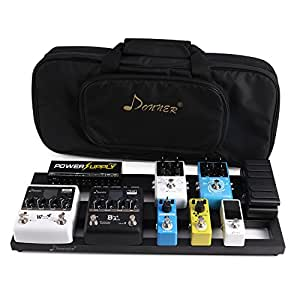 donner guitar pedal board case db 2 aluminium pedalboard with bag musical instruments. Black Bedroom Furniture Sets. Home Design Ideas