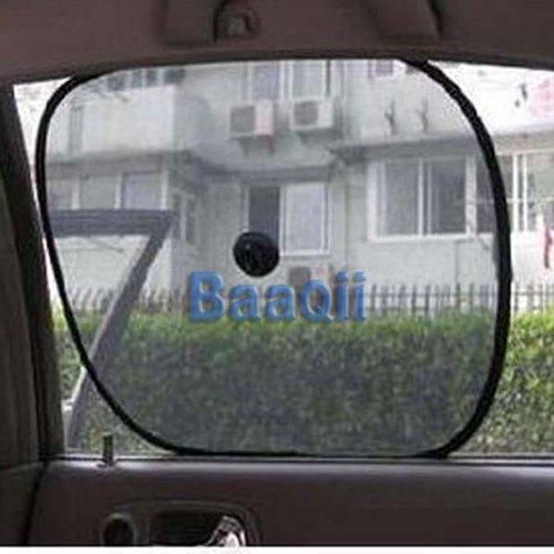 2 x Car Side Rear Window Sunshade Sun Shade Visor Shield Cover Screen Black Mesh