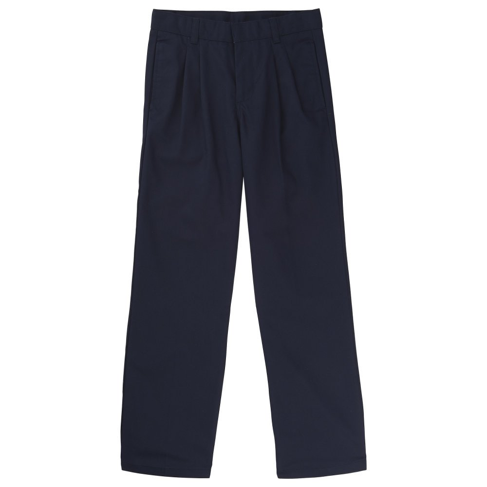 French Toast Little Boys' Pleated Double Knee Pant with Adjustable Waist SK9103