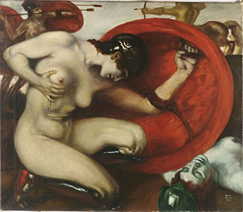 Franz Stuck - Wounded Amazon, Poster art print wall d?cor