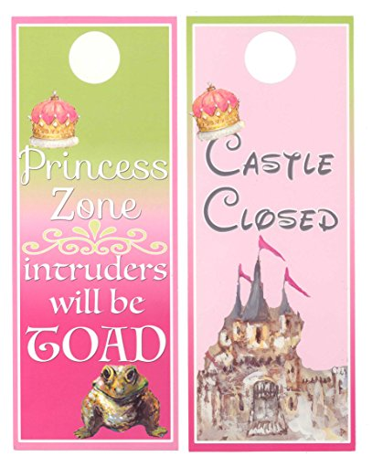 Hanger Door Princess (Mumsy Goose - Princess Zone Girls Room Door Hanger)
