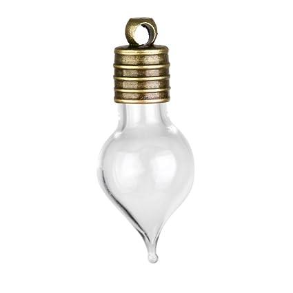 10pcs Mini Botellas de Vidrio en Forma de Lágrima para Decoración DIY Artesanía