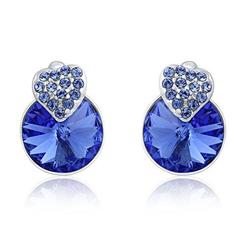 Mahi Brass Stud Earring For Women Blue – ER1194089RBlu