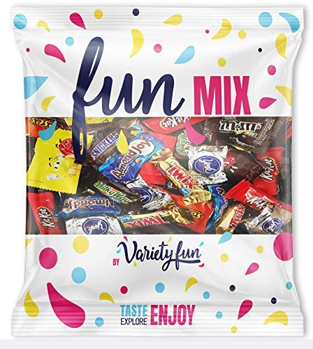 Candy & Chocolate HERSHEY'S Nestle M&M'S Variety Assortment Mix Bulk Value by Variety Fun (40 Ounce) (Chocolate Wrapped Custom)