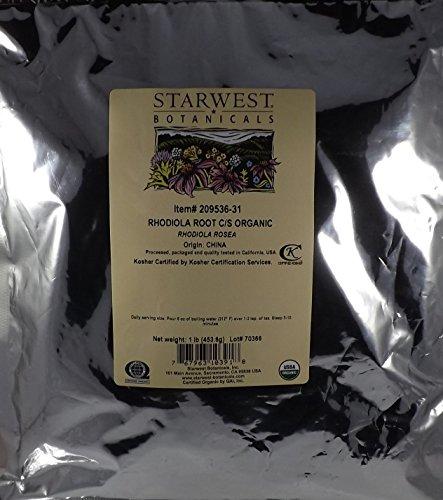 Rhodiola Root Organic Cut Sifted – Rhodiola rosea, 1 lb