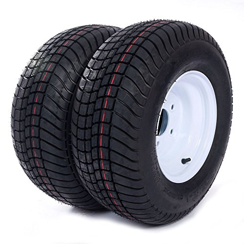 (Motorhot 2 Pcs 20.5x8.0-10 LRC Bias Trailer Tires 6PR P825 5 lugs on 4.5