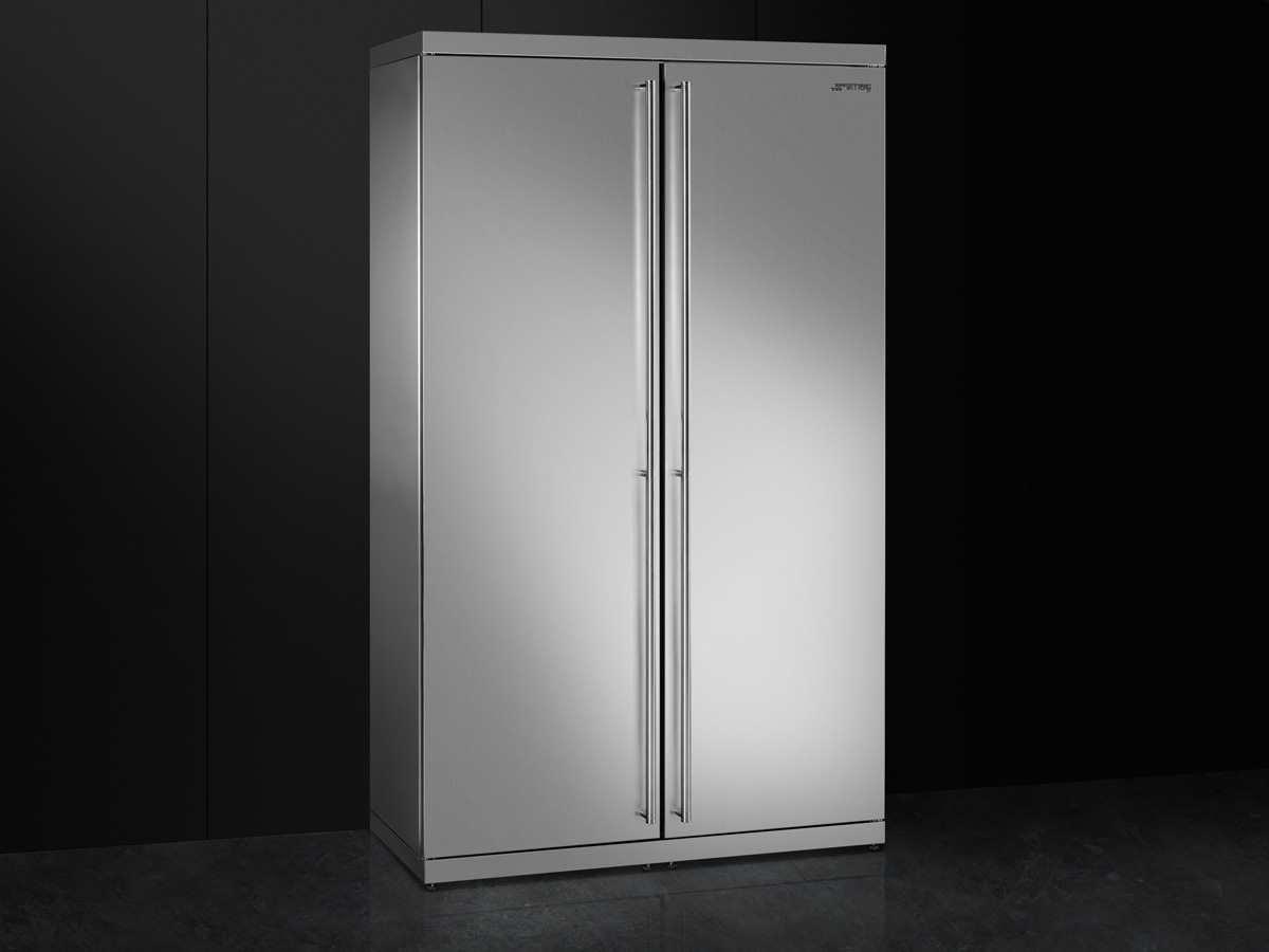 Smeg Kühlschrank Doppeltür : Smeg side by side kühl gefrier kombination edelstahl kühlschrank