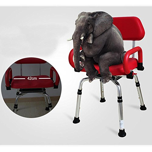 TSAR003 High-End Luxury 360 Degree Rotating Bathroom Chair With Backrest And Handrails, Comfortable Soft Seat, Adjustable Height, Waterproof Anti-Skid, 400 Pounds Load by TSAR003 (Image #7)