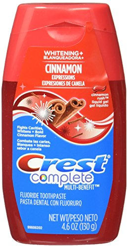 Crest Complete Whitening Plus Expressions Cinnamon Rush Liquid Gel Toothpaste 4.6 oz., (Pack of 6) ()