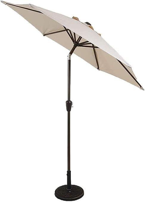 Nologo Sombrillas de jardín para exteriores, protección de sombrillas, 7 pies, sombrilla para el mercado de patio, sombrilla para mesa de jardín al aire libre con ajuste de inclinación: Amazon.es: Hogar