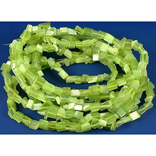 Green Fiber Optic Chip Beads Jewelry Beading 34