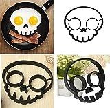 Spooky Halloween Owl & Skull Nonstick Silicone Egg Ring Maker Mold Shaper