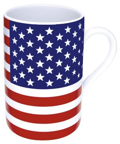 Konitz 10-Ounce Stars and Stripes Mugs, Assorted, Set of 4 by Konitz