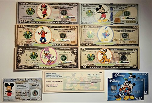 Mickey mouse DISNEY BIRTHDAY PARTY Play Money/drivers