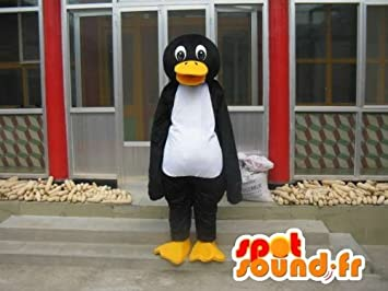 Mascotte SpotSound Amazon personnalisable de pingouin Linux noir blanc et  jaune d955af2d2f6