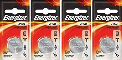 Energizer Lithium Coin Blister Pack Watch/Electronic Batteries CR2450 (Pack of 4)