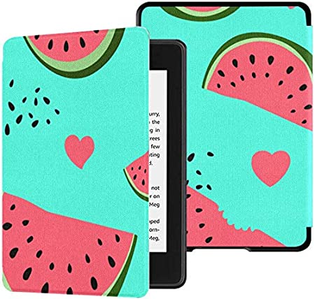 Kindle Cover 2018 Paperwhite Blue Watermelon Tiene Semillas e Hilo Kindle Paperwhite Funda Estuche con Estuches de activación/Reposo automático para Kindle Paperwhite 10th Generation 2018