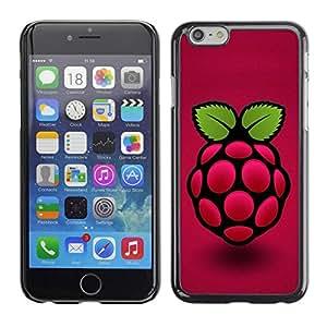 Caucho caso de Shell duro de la cubierta de accesorios de protección BY RAYDREAMMM - Apple iPhone 6 - Raspberry