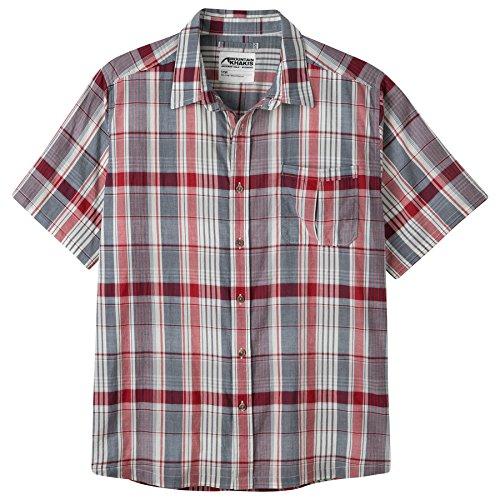 Mountain Khakis Men's Tomahawk Madras Shirt, Cardinal Multi, XX-Large - Red Upgrade T-shirt