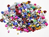1 lbs of Bulk Crafting Gems. Assorted Colors, Shapes & Sizes. Over 1000 Pieces