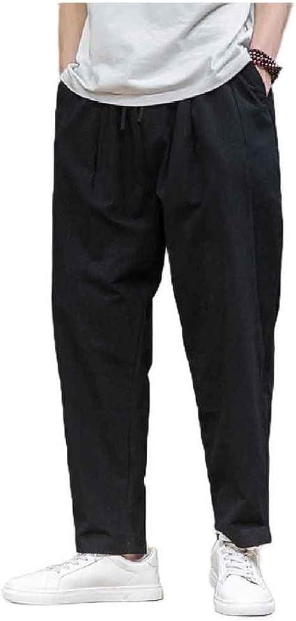 AngelSpace 男性リラックスフィットプラスサイズ中国スタイルの緩いパラッツォラウンジパンツ