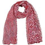 Écharpe longue imprimé Animalier - Rouge