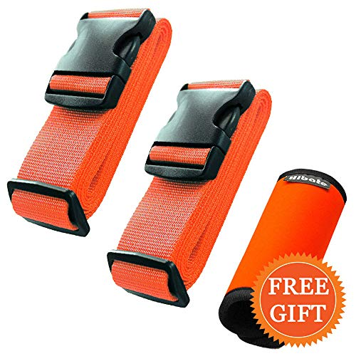- Hibate (2_Orange) Luggage Straps Belts and (1_Orange) Neoprene Suitcase Handle Wrap Grip Tags