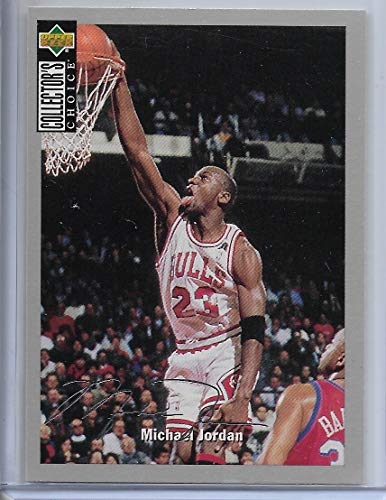 (1994 Collector's Choice Basketball Michael Jordan Silver Signature Salute # 240)