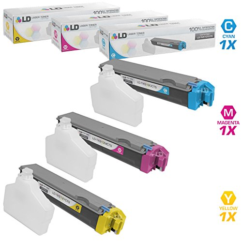 LD Compatible Replacements for Kyocera-Mita TK-512 Set of 3 Laser Toner Cartridges Includes: 1 TK-512C Cyan, 1 TK-512M Magenta, and 1 TK-512Y Yellow (In All Laser One Printer Kyocera)