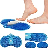 Easyinsmile 3-in-1 Bathroom Massager Mat Foot Care Tools Dead Skin Removal with Massager Brush and Nature Pumice Stone