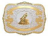 Crumrine Belt Buckle Girls Kid Barrel Racer 3 1/4 x 4 1/2 Gold 384