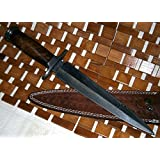 RAM-05 Damascus Steel Dagger Knife – Walnut Wood Handle