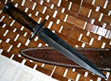 RAM-05 Damascus Steel Hunting Knife – Walnut Wood